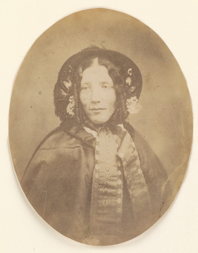 sepia bust portrait of Harriet Beecher Stowe