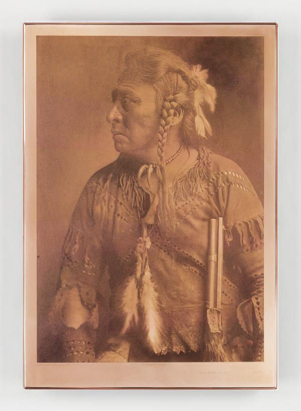 copper portrait plate