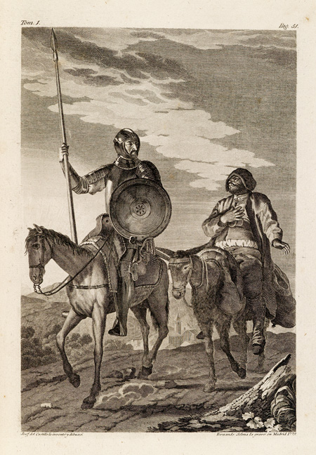 plate from the book picturing two men on horseback