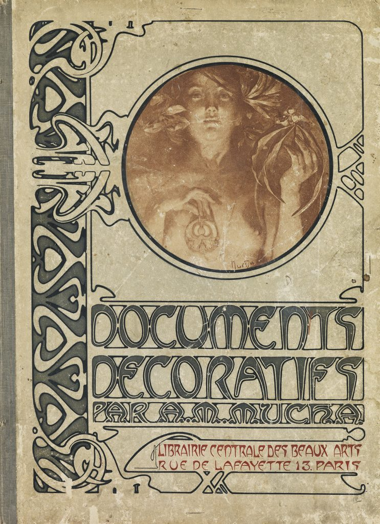 Cover of Documents Décoratifs by Alphonse Mucha. Poster portfolio.