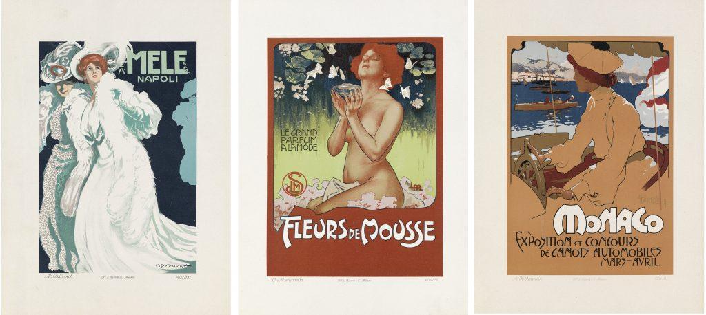 Three posters by G. Ricordi