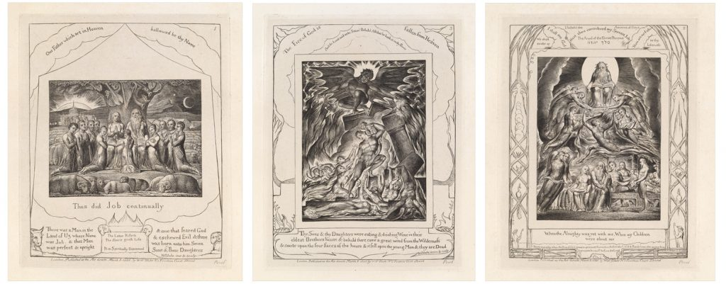 triptych of three engravings