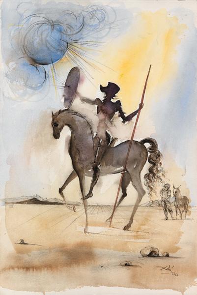 don quixote on horseback by Salvador Dalí