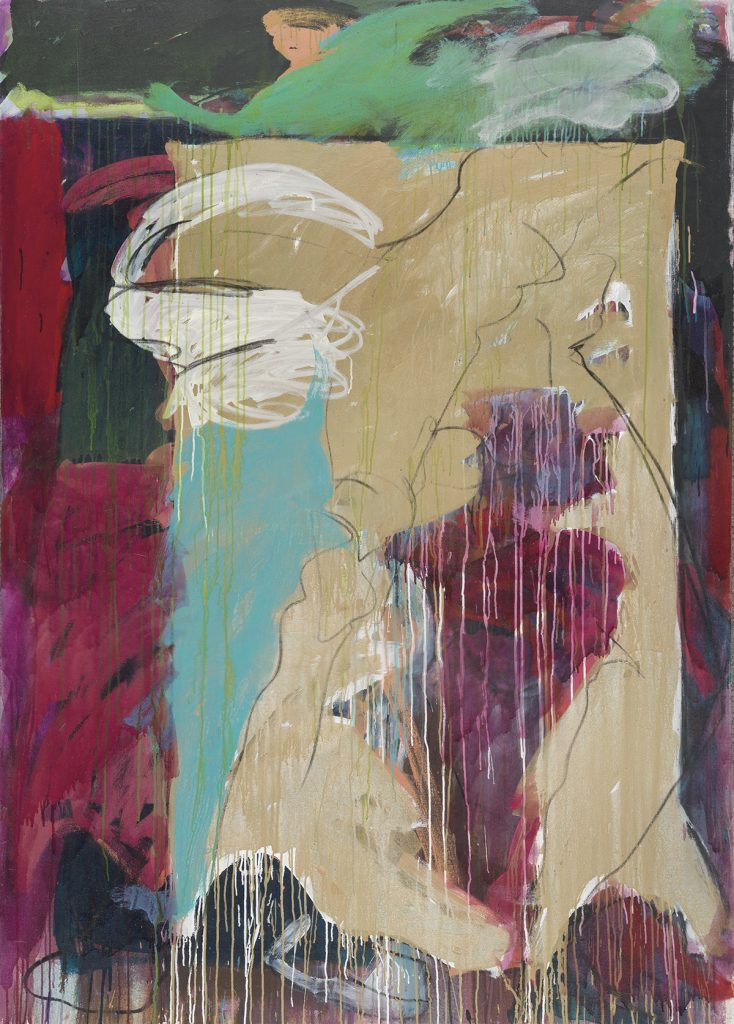 Abstract painting by Mary Lovelace O'Neal.