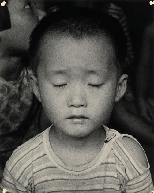 Lot 148  DOROTHEA LANGE (1895-1965)  Korean Child. Silver print,
