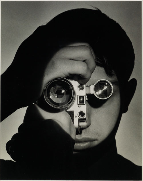 Lot 98  ANDREAS FEININGER (1906-1999)  The Photojournalist (Dennis Stock), New York. Silver print,