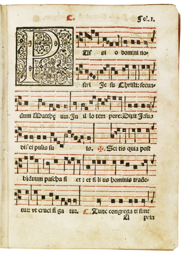 Mexican Imprint of sheet music from 1604 by Juan Navarro.