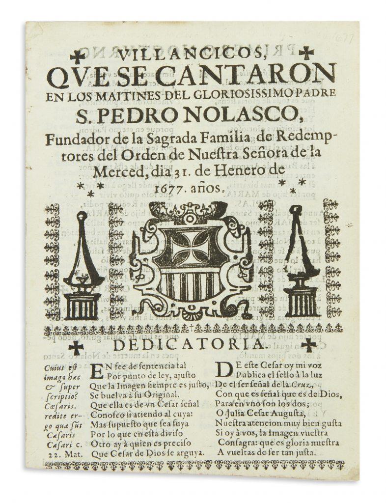Title page of a 1677 Mexican imprint by Sor Juana Inés de la Cruz.