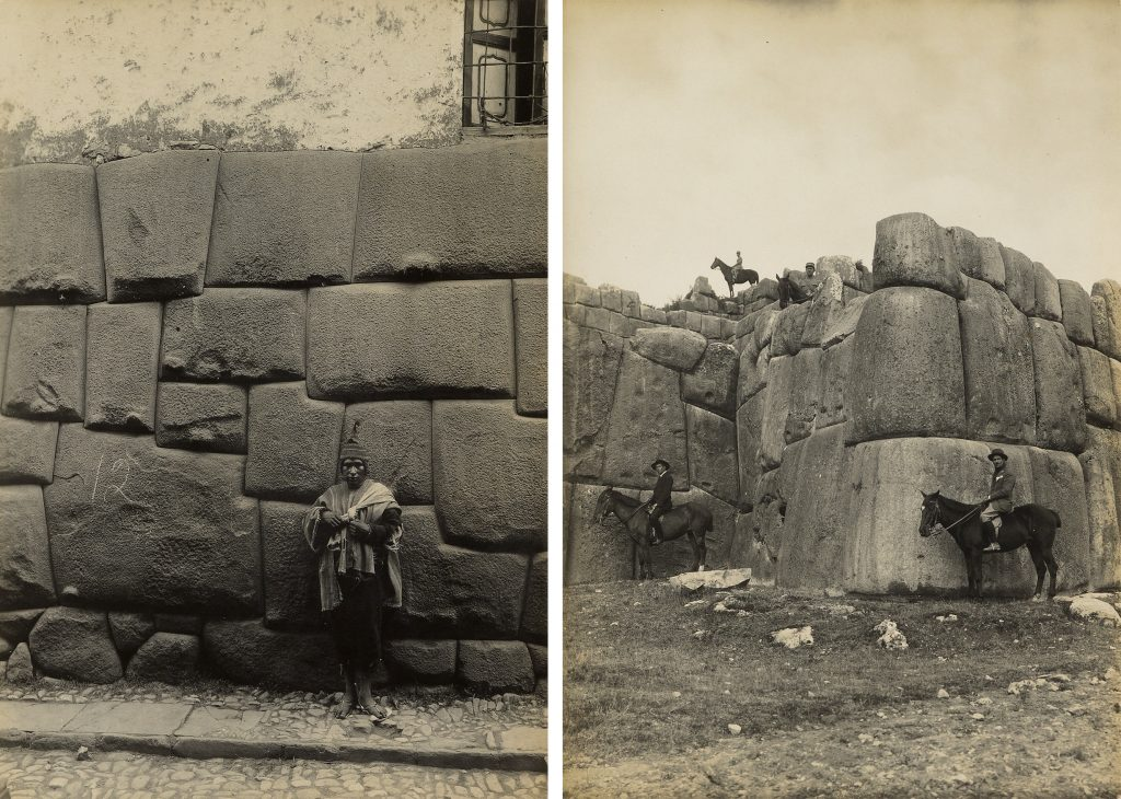 Two black and white photos from the 1920s of native Peruvians by Martín Chambi.