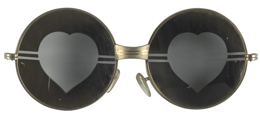 Candy Darling's heart-shaped sunglasses from the 1970s.