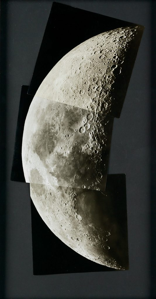 collage of the moon