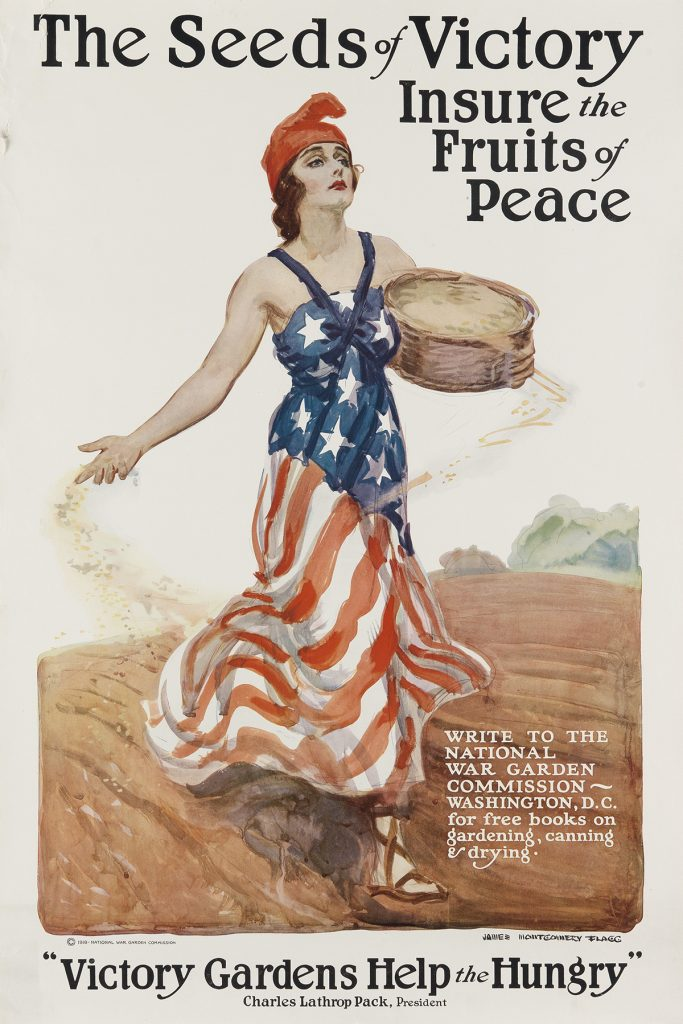 James Montgomery Flagg, The Seeds of Victory Insure the Fruits of Peace, 1918.