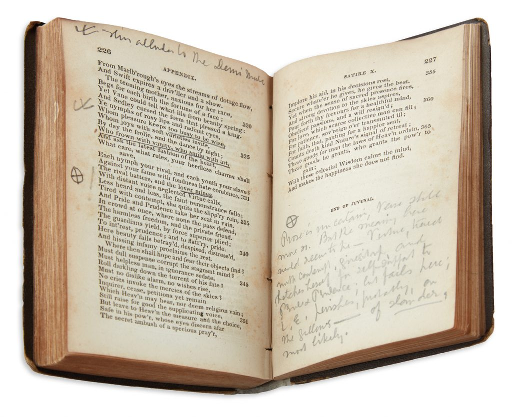 Book from Herman Melville's library, annotated by the author