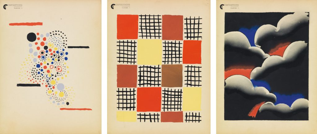 Sonia Delaunay, Compositions, Couleurs, Idees, color pochoirs, 1930.