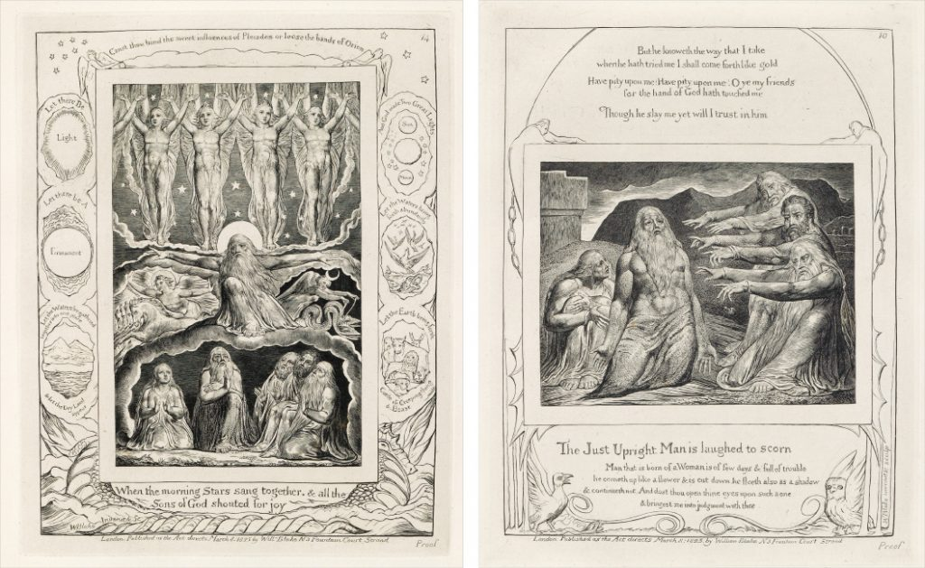 William Blake, Illustrations of the Book of Job, complete set of 22 engravings, London, 1826.