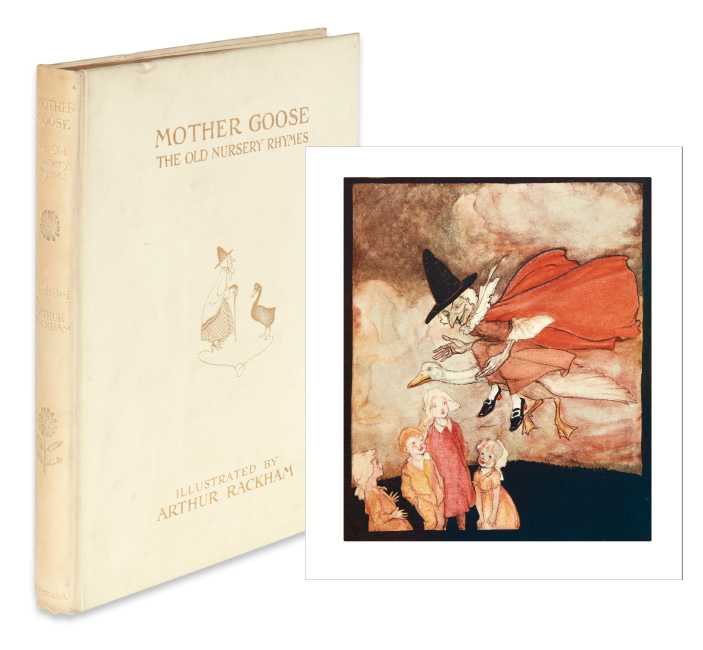 Arthur Rackham, Mother Goose: The Old Nursery Rhymes, first English deluxe limited edition, London, 1913.
