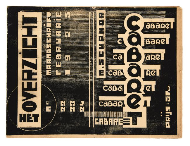 Jozef Peeters & Michel Seuphor, Het Overzicht, No. 23-24, Antwerp, 1925. $4,000 to $6,000.