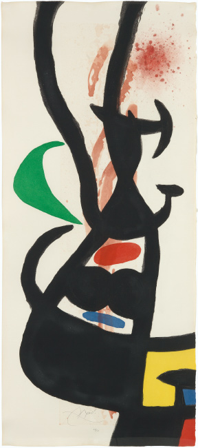 Joan Miró, Le Chef des Équipages, color etching, aquatint and carborundum, 1973.