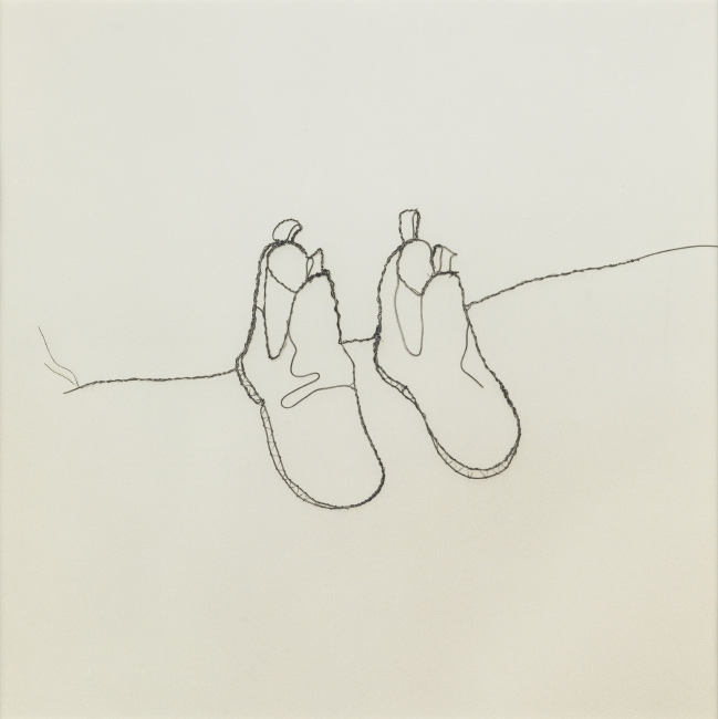 Vik Muniz, Shoes, selenium-toned silver print,