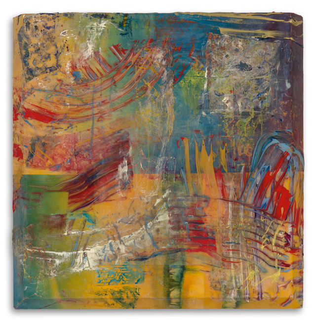 Sam Gilliam, Richer Scene, acrylic and polypropylene on canvas, 1998. $35,000 to $50,000.