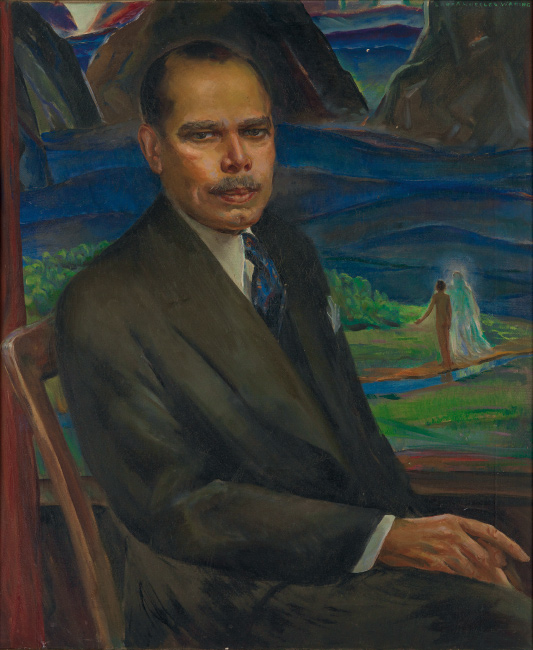 Laura Wheeler Waring, James Weldon Johnson, oil on canvas, circa 1943.