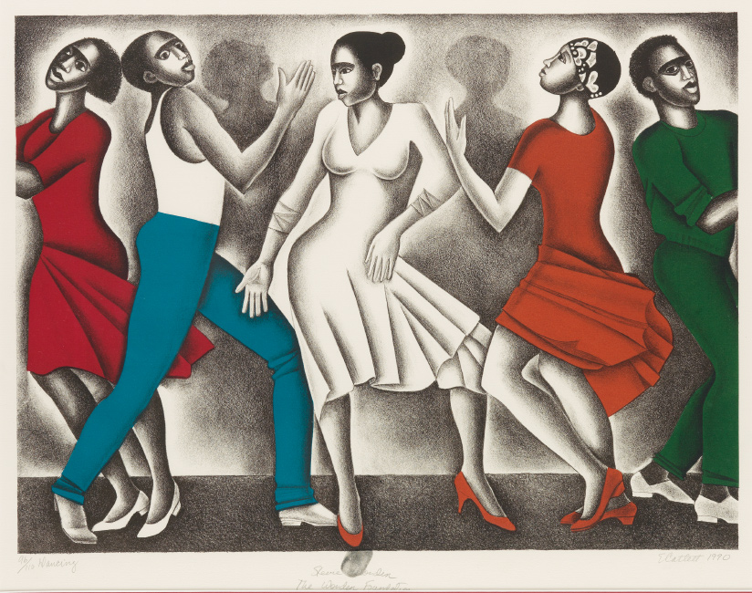 five figures dancing by elizabeth catlett
