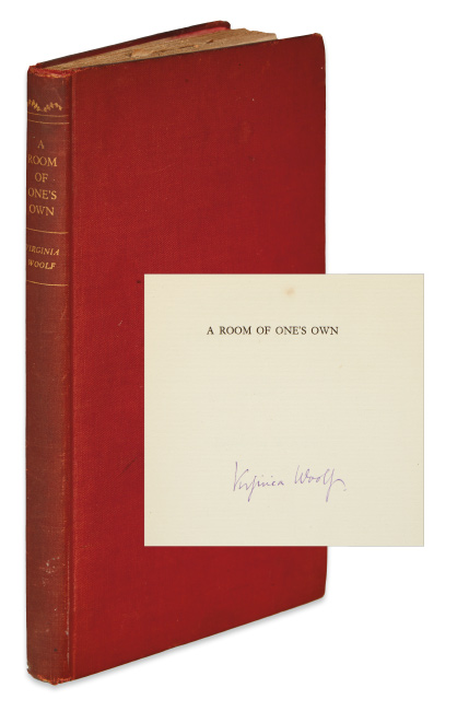 Virginia Woolf, A Room of One's Own, first edition, signed, New York, 1929.