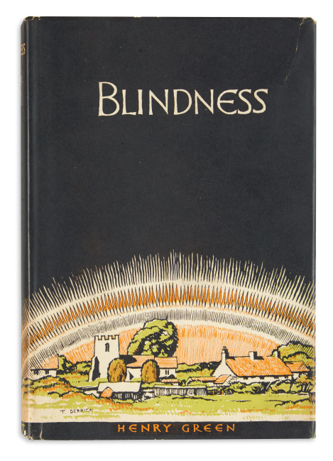 Henry Green, Blindness, first edition of the author's first book, in original dust jacket, London & Toronto, 1926.