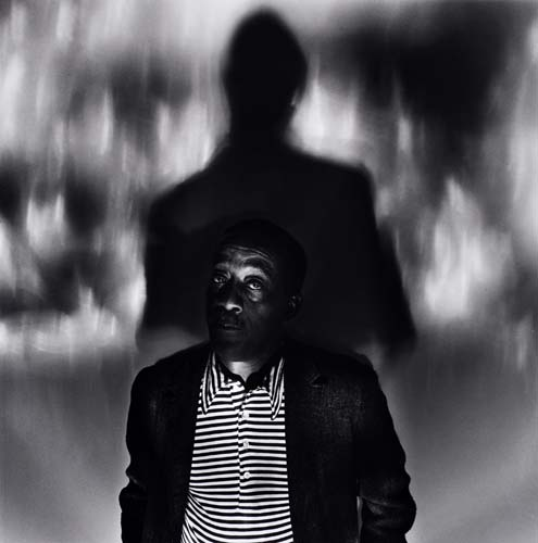 Anthony Barboza, black and white photograph of Norman Lewis, 1976.