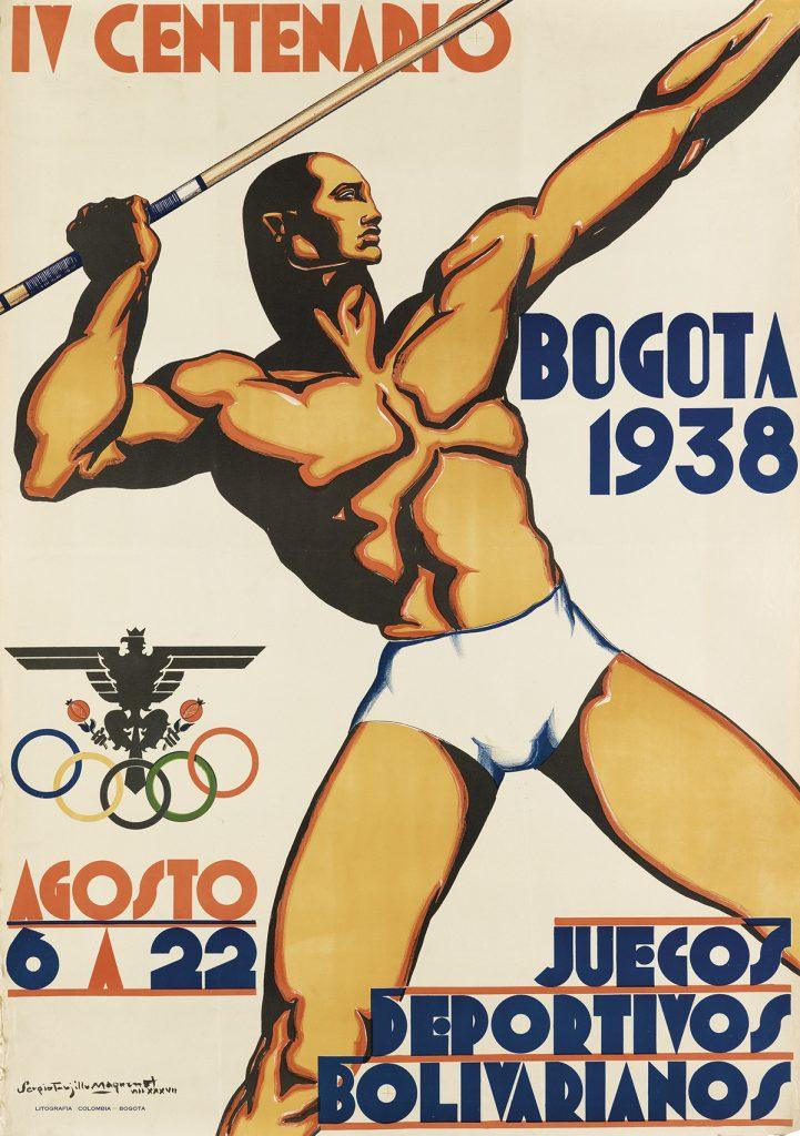 Sergio Trujillo Magnenat, Bogota 1938 / IV Centenario / Juegos Deportivos Bolivarianos, male javelin thrower, 1938.