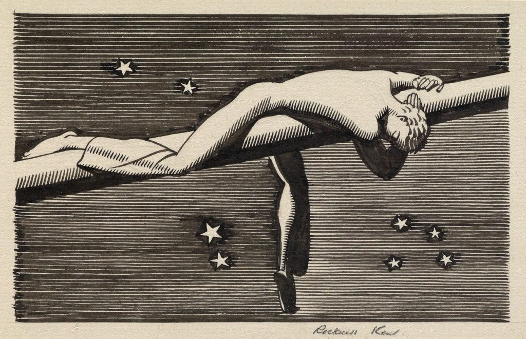 rockwell kent's frontispiece for moby dick