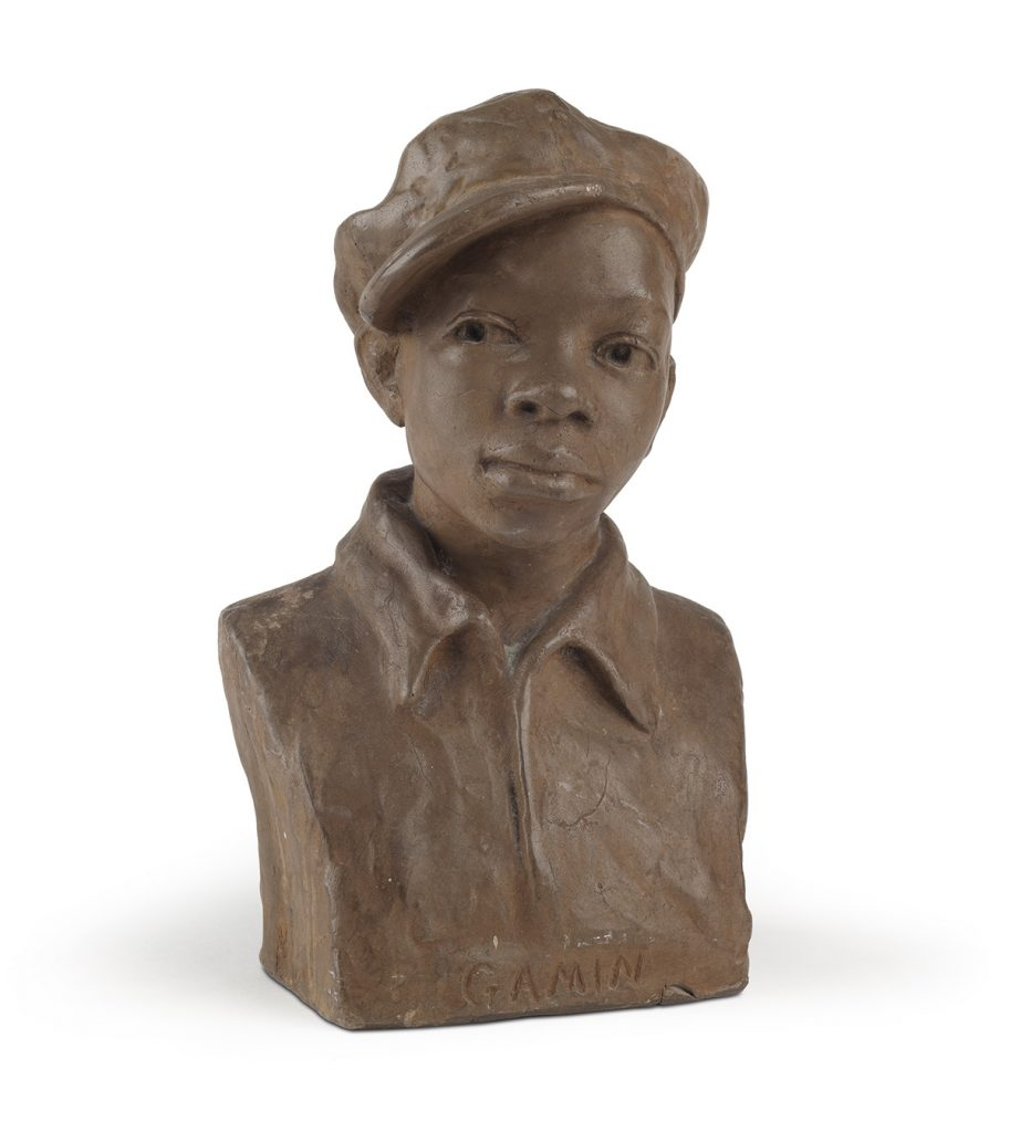 Augusta Savage, Gamin, painted plaster, circa 1929. $20,000 to $30,000.