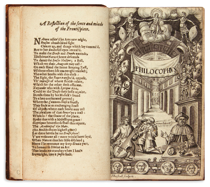 Lot 177: John Bulwer, Philocophus, first edition of the first book in English on the deaf, London, 1648. $1,000 to $2,000.