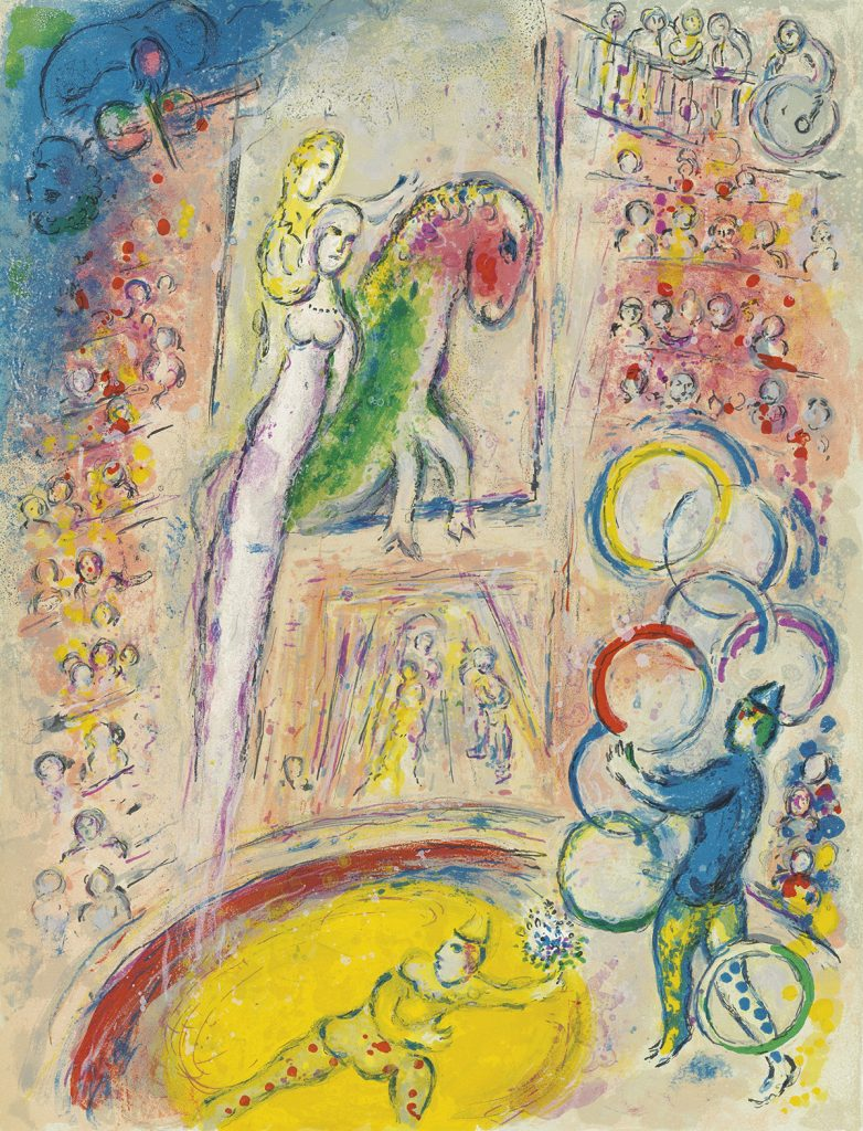 Marc Chagall, Cirque, potfolio of 38 lithographs of circus scenes, 1967.