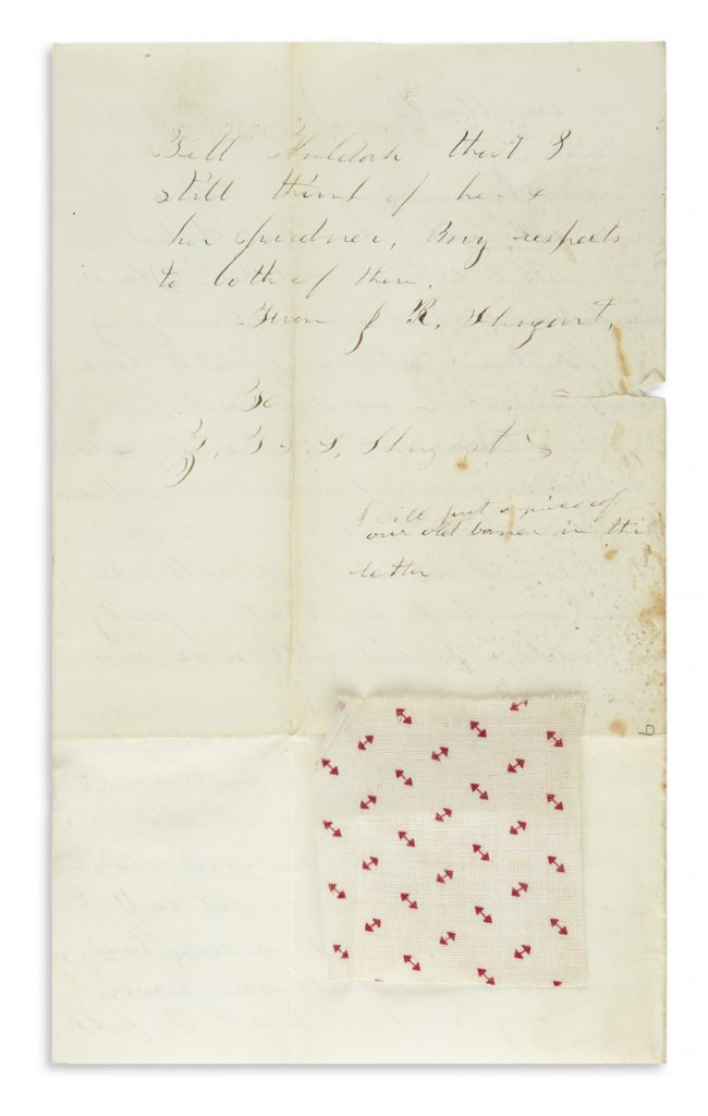 A letter from the collection of Shugart family papers.