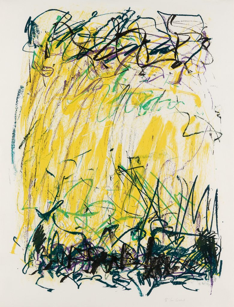 Joan Mitchell, Sides of a River II, color lithograph, 1981.