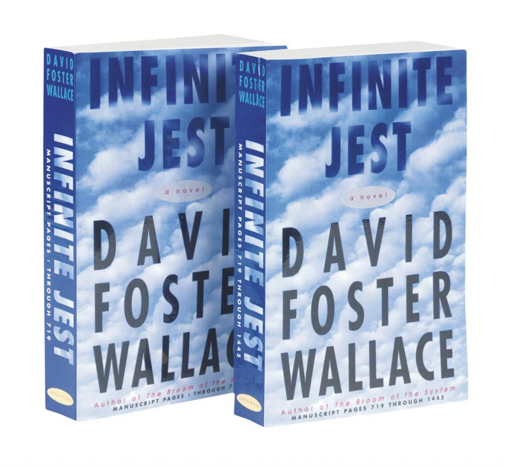 David Foster Wallace, Infinite Jest, two paperback copies, 1995.