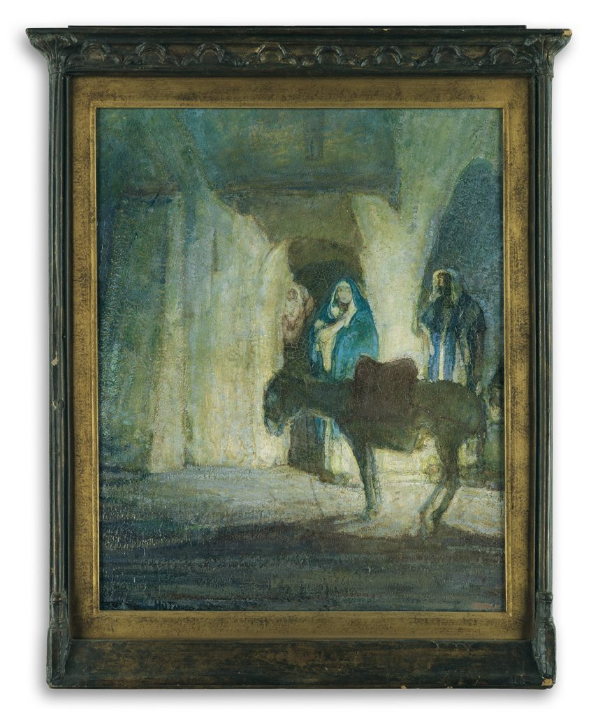 Henry Ossawa Tanner, At the Gates (Flight into Egypt), oil on panel of Mary, Joseph and baby Jesus fleeing into Egypt, circa 1926-27.