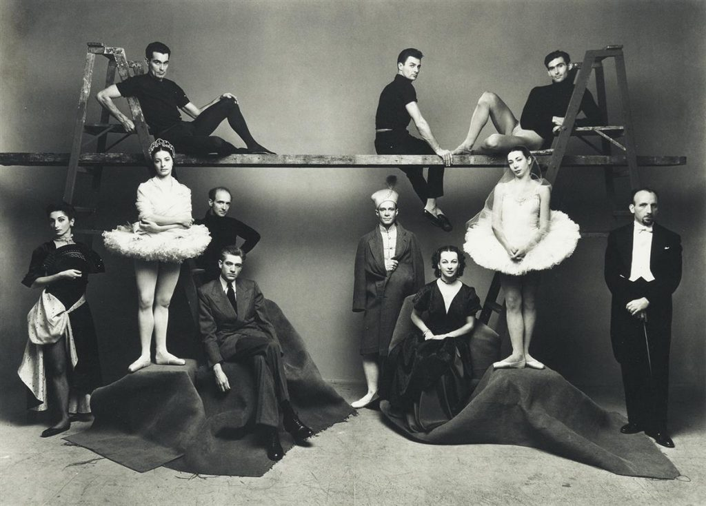 Irving Penn, American Ballet Theatre, platinum-palladium print of members of the 1947 ABT company, 1947.