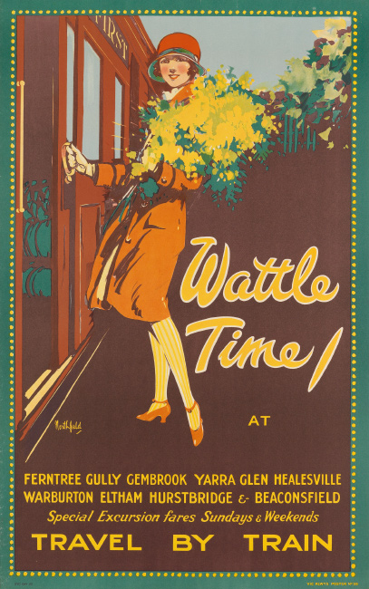 James Northfield, Wattle Time / Travel By Train, circa 1925. $4,000 to $6,000.