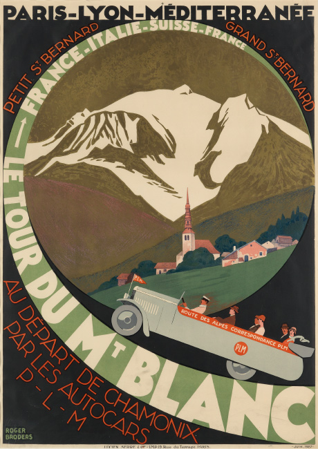 Roger Broders, Le Tour du Mt. Blanc, 1927. $5,000 to $7,500.
