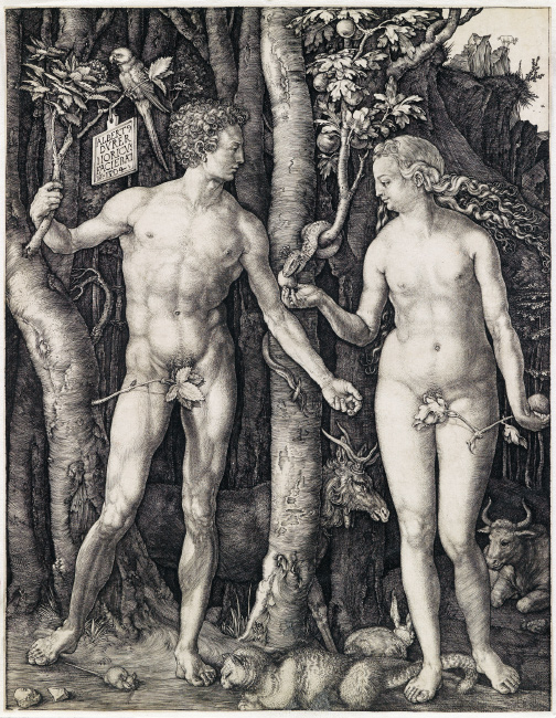Albrecht Dürer, Adam and Eve, engraving, 1504. $80,000 to $120,000.