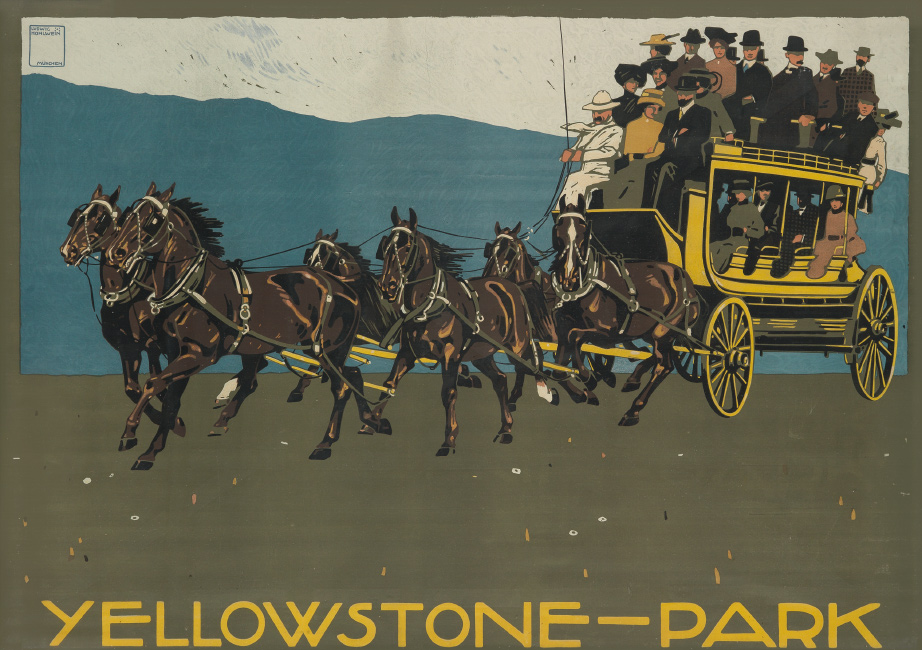 Ludwig Hohlwein, Yellowstone - Park, 1910. $10,000 to $15,000.