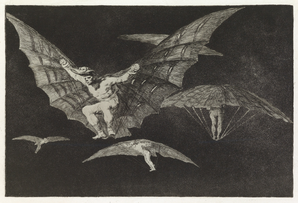 Francisco José de Goya, Modo de Volar, aquatint and etching, circa 1824. $10,000 to $15,000.