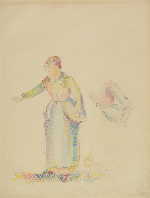 Henri-Edmond Cross, The Sower, watercolor and pencil, circa 1890. $15,000 to $20,000.