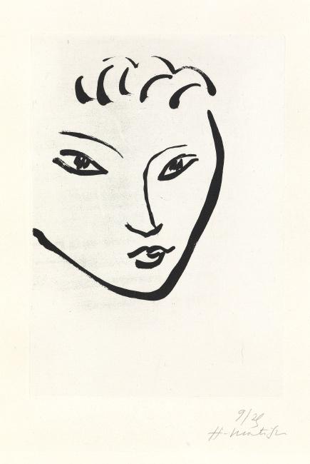 Henri Matisse, Tête de jeune garçon, Masque, aquatint, 1946. $20,000 to $30,000.