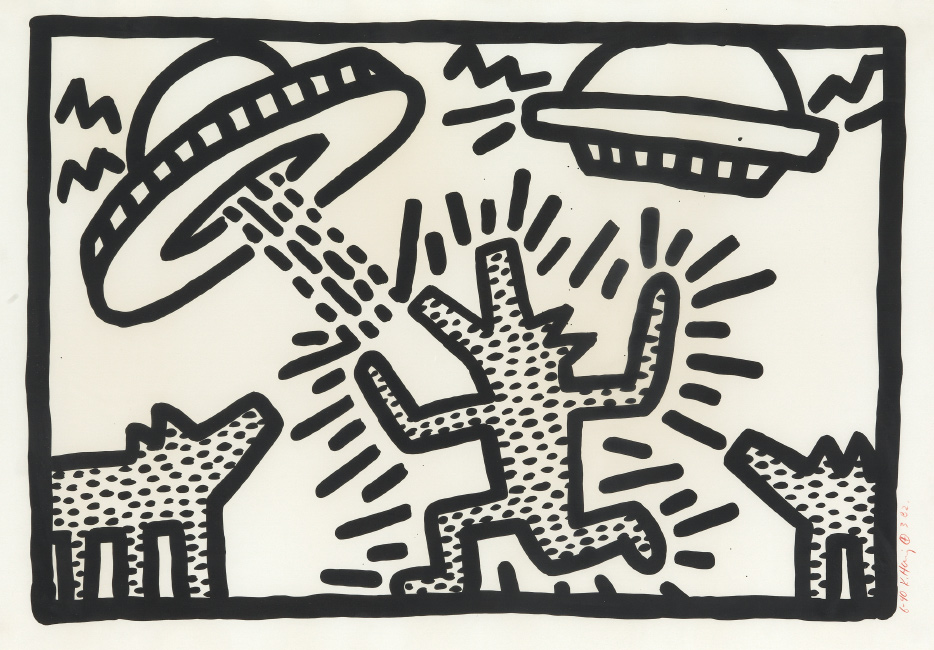 Keith Haring, Untitled, lithograph, 1982.