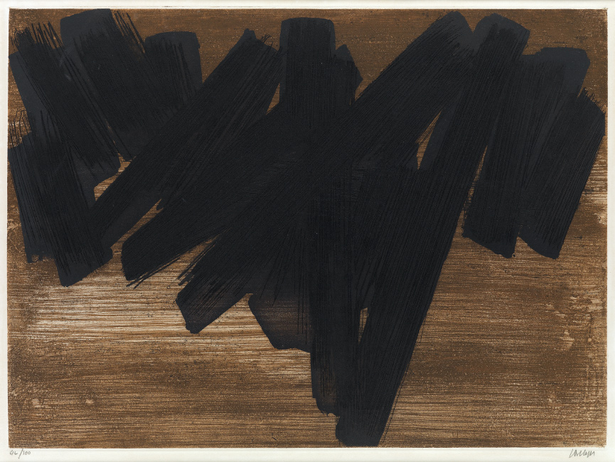Pierre Soulages, Eau Forte V, color aquatint and etching, 1957.