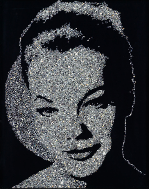 Vik Muniz, Romy Schneider (from the Diamond Series), cibachrome print mounted on aluminum, 2004.