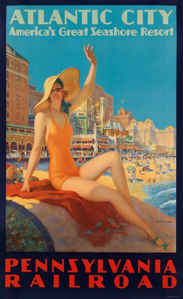 Edward M. Eggleston, Atlantic City / Pennsylvania Railraod, circa 1935. Sold for $16,250.